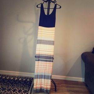 Blue, Pink, and Grey Maxi Dress, Market&Spruce